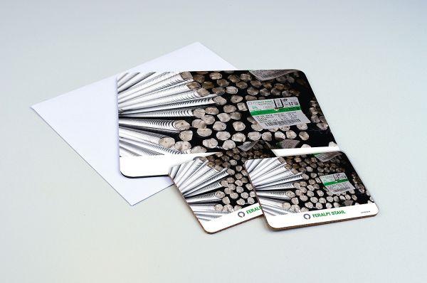Kombi-Set - bedrucktes Hochweisspapier 160g