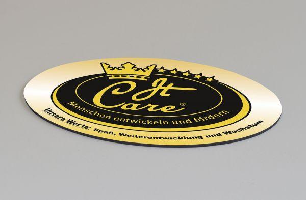 Mauspad 2mm oval mit eigenem Logo